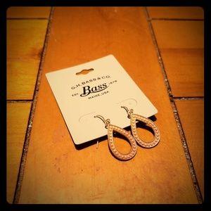GH Bass & Co Teardrop Earrings Gold/Pink
